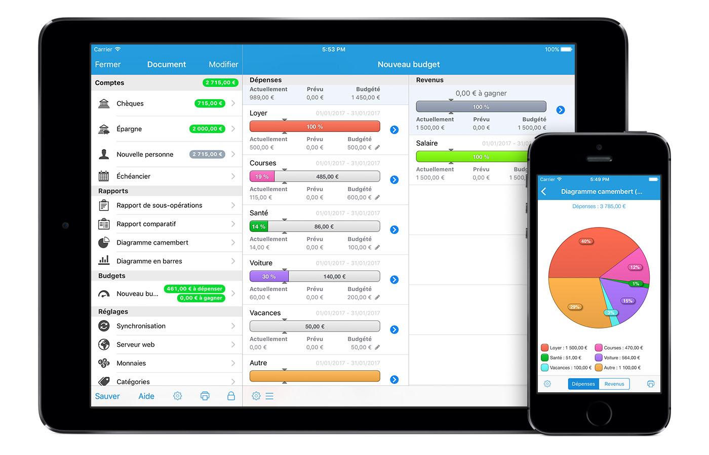 Icompta vos comptes en toute simplicit for Application miroir pour ipad
